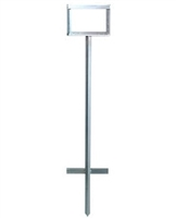 In-Ground Sign Stand for Mesh/Roll up Signs