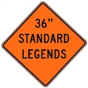 "Roll Up Diamond Grade™ Standard Legends 36""x36"""